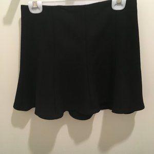 Zara Flutter Black Miniskirt